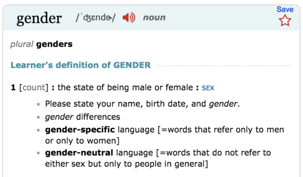 language defines gender